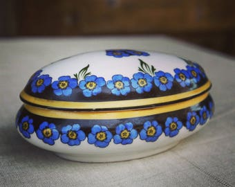 Jewelry box - Limoges porcelain - Vintage French-