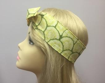 Cool as a cucumber Pin Up Headband Headscarf