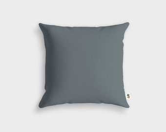 Basic CHARCOAL grey cushion - Made in France - 45 x 45 cm
