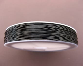 100 m wire wrapped black wire 0.45 mm