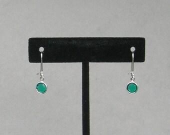 May Birthstone- Emerald Drop Earrings