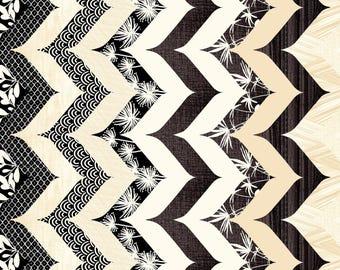 Cream Zen Chevron Stripe Cotton fabric