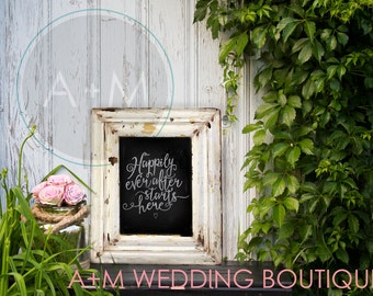 Wedding Sign Instant Printable Welcome sign/ SIZE 16x20 INCHES / Signage / Instant Download / Happily Ever After Starts Here!