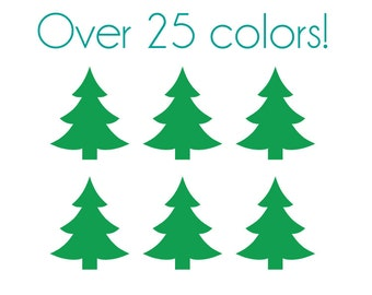 Christmas Tree Nail Decals (Stylish) - Vinyl, Custom choice of color