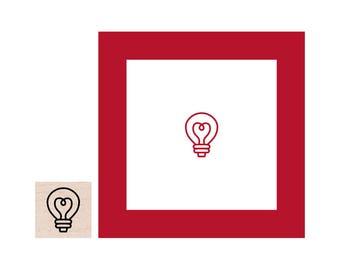 Mini Light Bulb Rubber Stamp