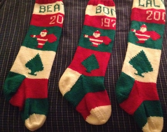 Personalized Handknit Christmas Stocking - taking orders for 2018