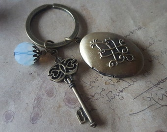 Medallion Keychain ~ key ~.