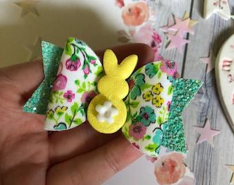 SALE Floral Bunny Bow