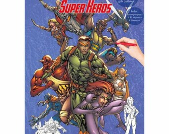 Coloring book 21 x 29, 7-32 pages - Super Hero