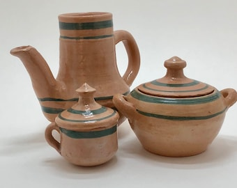 Vintage terra-cotta tea set