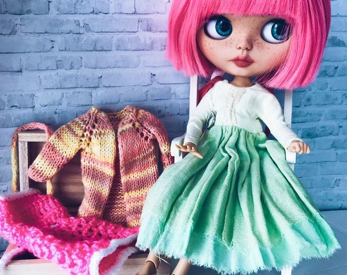 Blythe dolls Blythe Custom doll OOAK blythe Blythe fake base Interior doll Blythe handmade Blythe dress