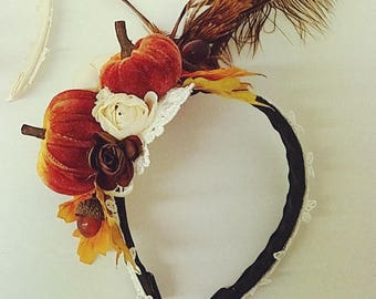Pumpkin Fall Halloween Headband