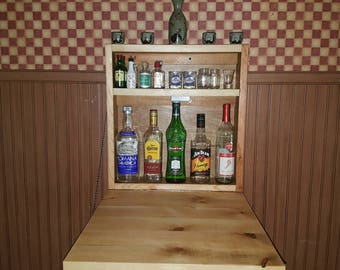 Beau Rustic Murphy Bar Wall Mount Bar Man Cave Liquor Cabinet