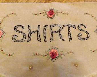 Hand Embroidered Shirt Travel Envelope