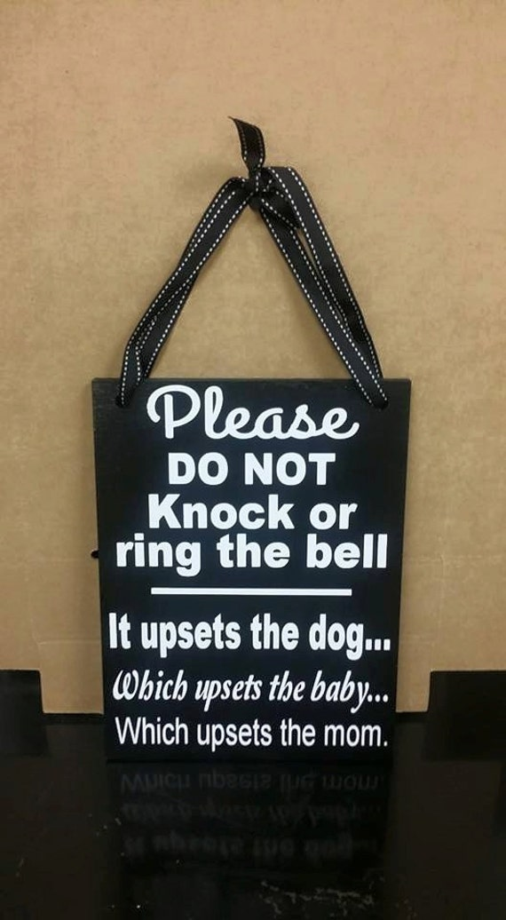 Please Do Not Knock Or Ring The Bell No Soliciting Sign