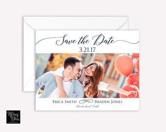 Two Become One Save the Date Custom Print