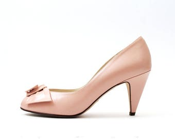 1970s Bandolino Pink Leather Pumps