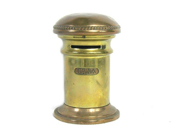 Vintage Copper and Brass Money Box