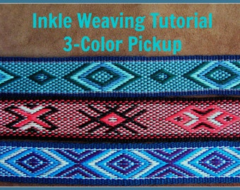 Inkle Weaving Tutorial, 3-Color Pickup, Band Weaving, Fancy Pattern, PDF, Digital Document