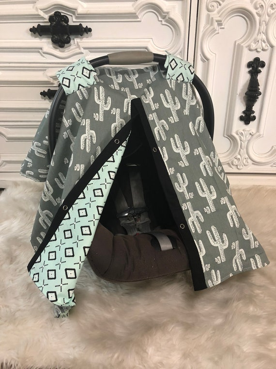 Cactus car seat cover , nursing cover / carseat canopy / carseat cover / deer / arrow / boy