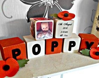 Wooden Baby Name Blocks | blocks letters | blocks baby | blocks nursery decor | blocks name | baby room decor | personalised letter blocks