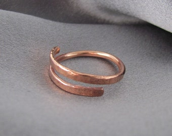 Raw Copper Ring, Adjustable Ring, Open Copper Ring, Pure Copper Ring for Man