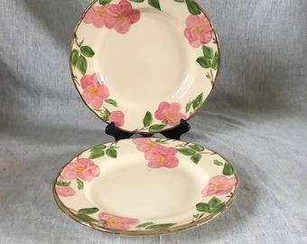 Vintage Franciscan Desert Rose Dinner Plates, Set of 2, England Backstamp
