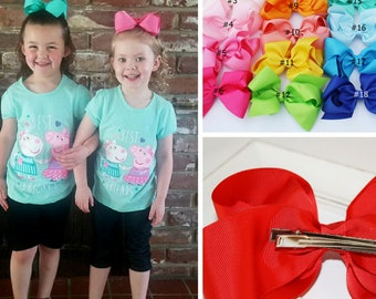 """6"""" large hair bows - boutique hair bows - baby bows - bows for girls, large hair bow for girls, big hair bows, boutique bows - for toddler"""
