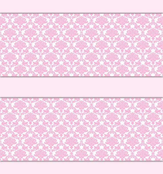 PINK DAMASK WALLPAPER Border Wall Decal Baby Girl Princess