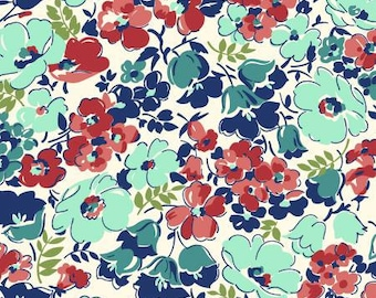 170144 Red Packed Floral, Hello Jane by Allison Harris Collection