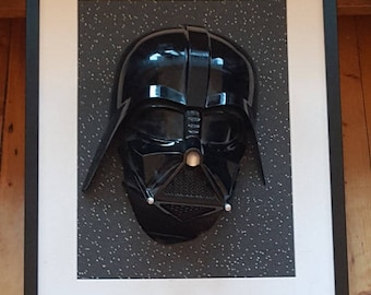 3D Star Wars Darth Vader Mask Frame.