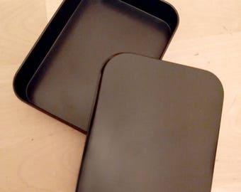 Set of 2 Matt Black Tins - Multi-use