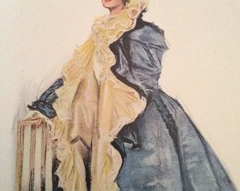 At The Opera - Howard Chandler Christy Vintage 1906 Book Print Victorian Color Lithograph to Frame