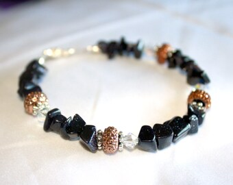 Midnight Goldstone Bracelet
