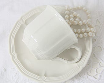 Vintage Villeroy & Boch Cup and Saucer, Demitasse Size, Luxembourg