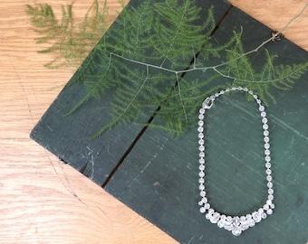 Vintage Eisenberg Ice Rhinestone Necklace