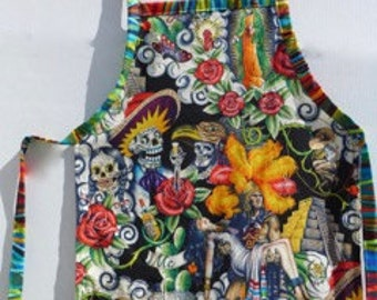 DAY of the DEAD - Emperor of the Aztecs Apron
