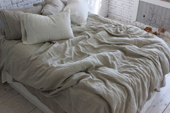Exceptionnel Linen Duvet Cover 100% Stone Washed Flax Organic Linen Bedding