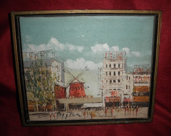 Canvas Painting Moulin Rouge Painting Sign in Frame