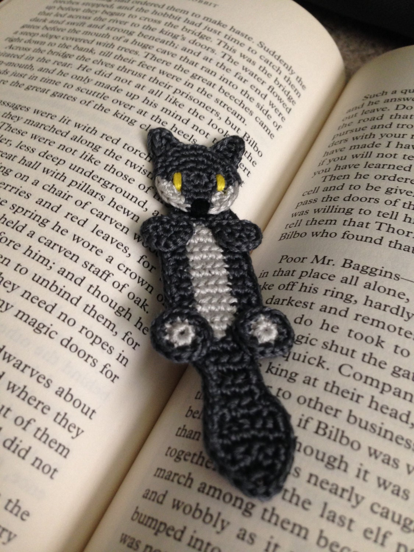 Wolf or Fox Bookmark - Crochet Pattern from CallistoCraft on Etsy Studio