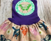 Girl's Toddler Tank Dress - Purple Butterfly - Infa...