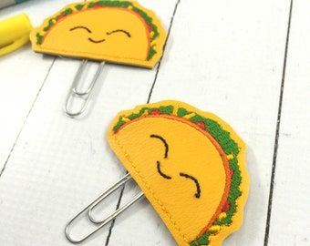 Planner Accessories - Taco Planner Clippie - paper clip - back to school gifts- teachers - felties