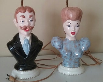 Mr and Mrs Accent Table Lamps  Old Time Charm