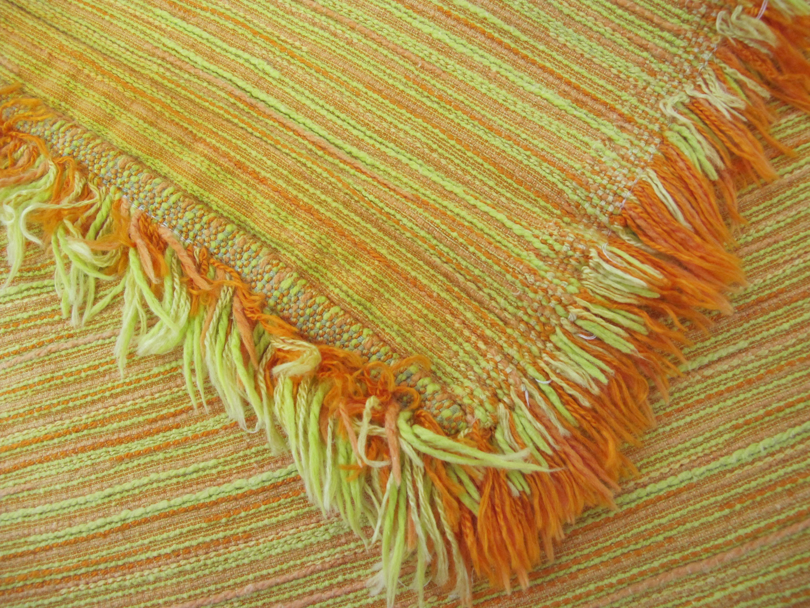 Mid Century Modern Tablecloth Mustard Yellow tablecloth Woven