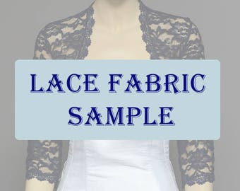 Lace sample color swatch