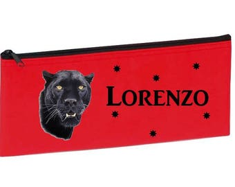 Red Black Panther personalized with name package