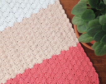 Cotton blanket - pink - 100% cotton - baby