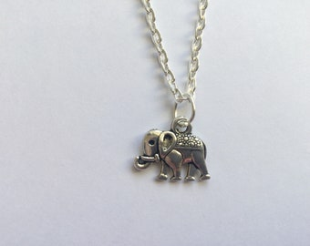Elephant Necklace, Elephant Jewellery, Elephant Gift, Silver Elephant Necklace, Silver Necklace, Birthday Gift, Gift for Her, Gift for Him