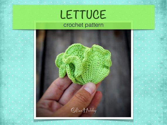 LETTUCE Crochet Pattern PDF - Crochet lettuce leaves Amigurumi ...