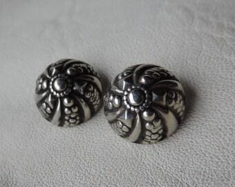 art nouveau silver buttons hollow repousse 800 silver buttons